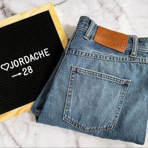 Jordache Light Wash Distressed High Waist Mom Jeans 28
